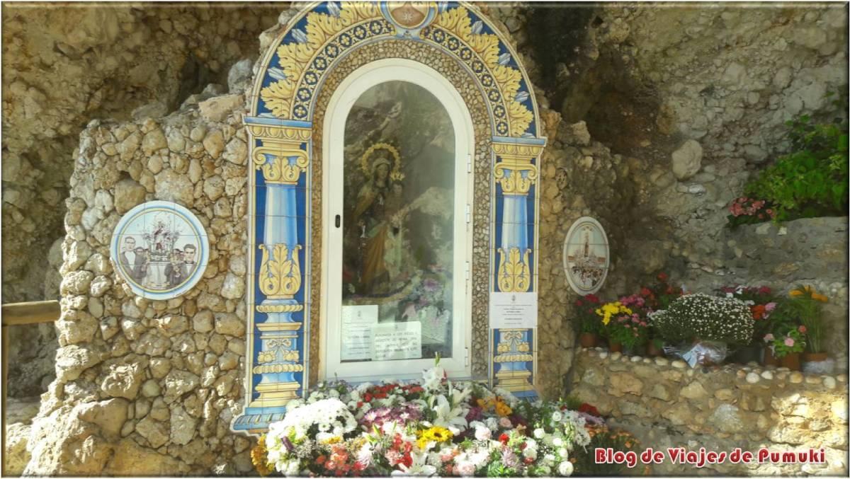 Virgen del Carmen del paseo marítimo del Rincón de la Victoria, Malaga