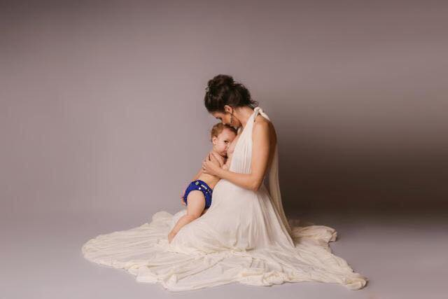 Imagem de mãe e filho