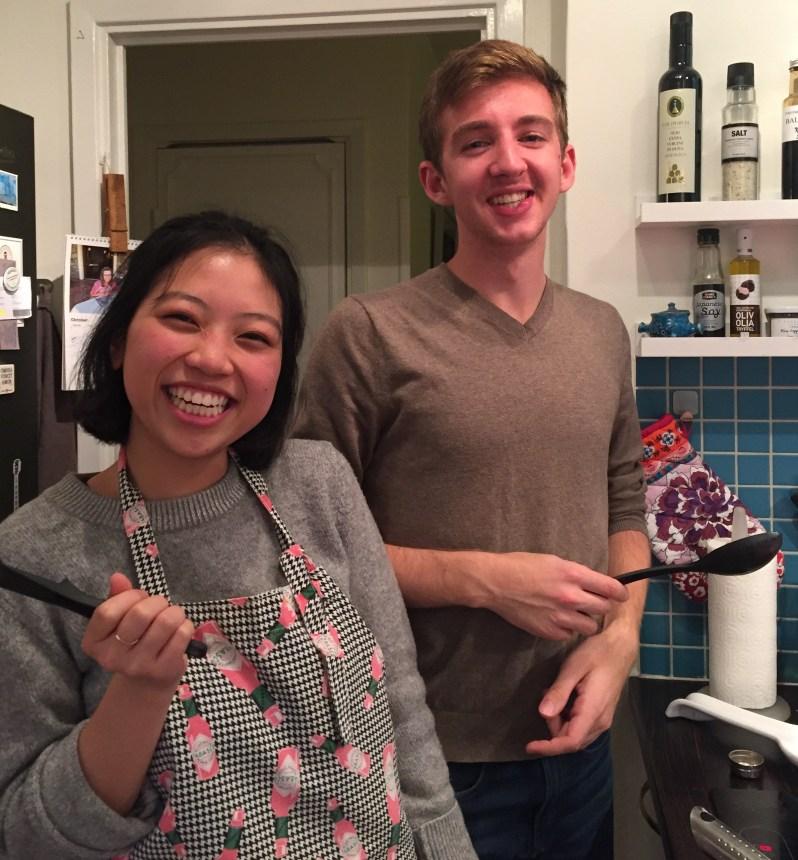 Alex och Ann lagar mat