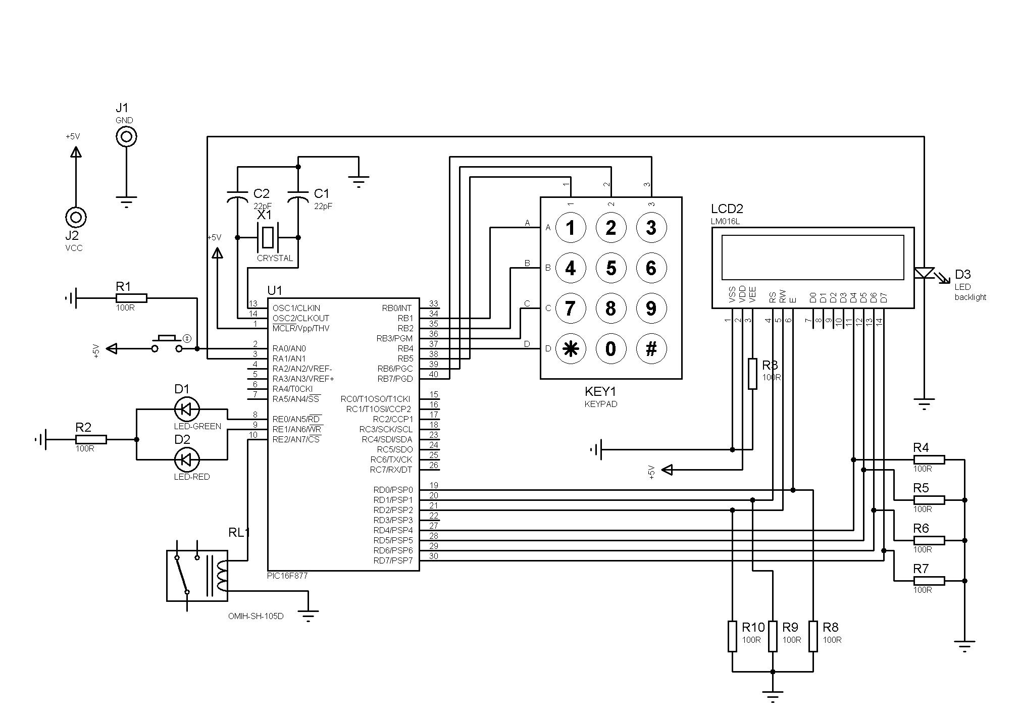 Fazendo Um Controle Simples De Acesso Usando O Pic 16f877a
