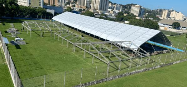 Hospital de campanha de São Gonçalo, que será gerido pela Iabas