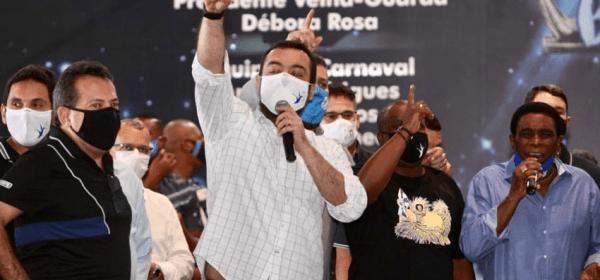 Governador Cláudio Castro em evento do Supera RJ na quadra da Beija-Flor