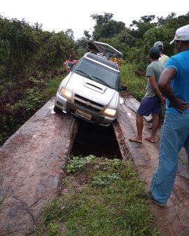 Vicinal em Anapu sem condição de tráfego de veículos