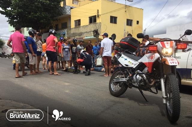 Acidente de trânsito é registrado em via urbana de Santa Cruz do Capibaribe