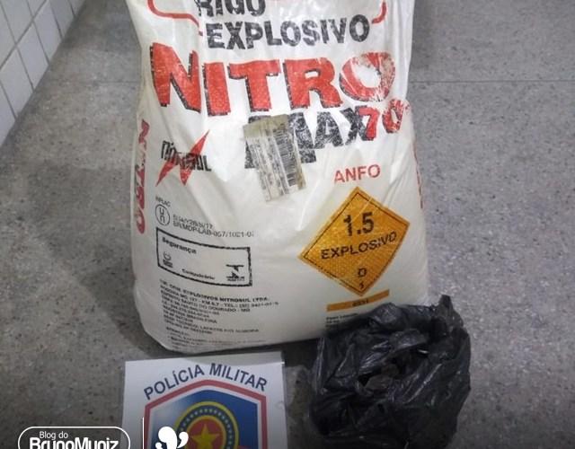 Indivíduo é preso com 25 kg de explosivos no município de Caruaru