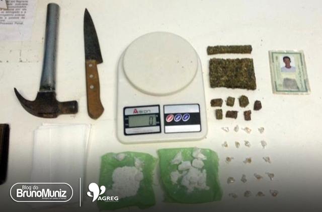 Jovem é preso após ser flagrado com drogas em Toritama, no Agreste de Pernambuco