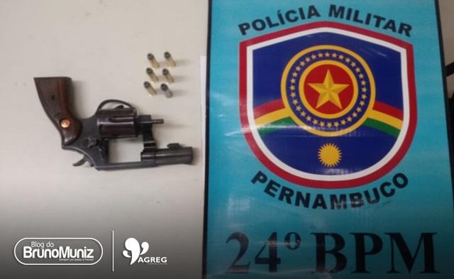 Homem é detido com arma de fogo na zona rural de Brejo da Madre de Deus