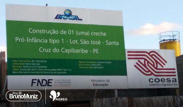 Em Santa Cruz do Capibaribe, obra está atrasada em 9 meses