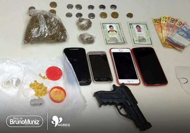 Polícia captura jovens com produtos roubados e entorpecentes em Santa Cruz do Capibaribe
