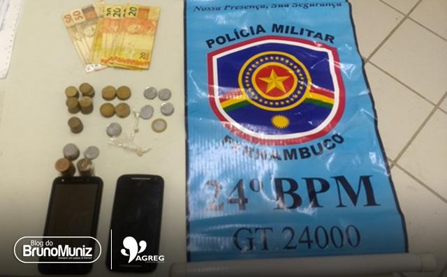 Uma pessoa é detida com droga e dinheiro em Santa Cruz do Capibaribe