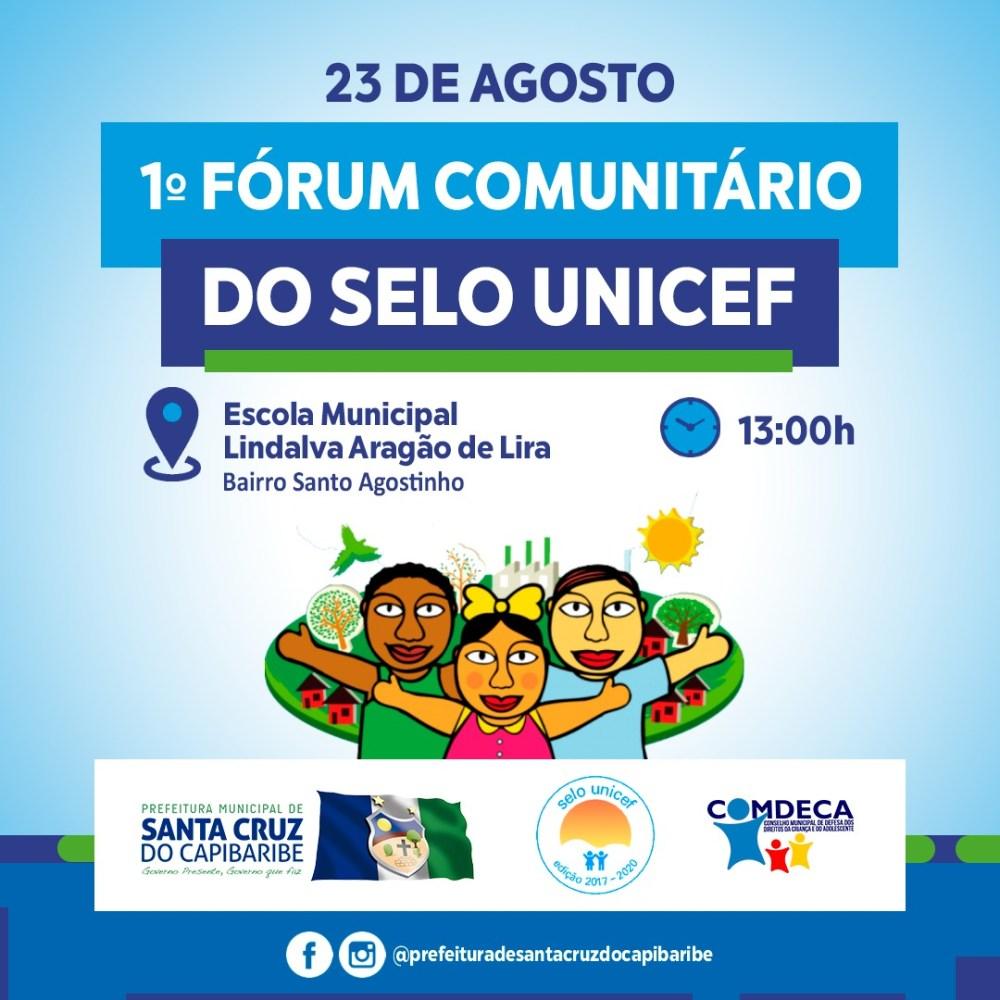 1° Fórum Comunitário do SELO UNICEF chega à Santa Cruz do Capibaribe