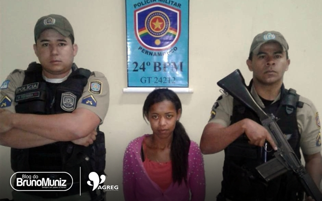 Polícia prende jovem acusada de tráfico em Toritama, no Agreste