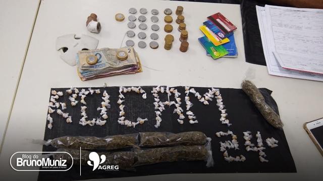 Após denúncias, polícia apreende 136 pedras de crack, dinheiro e maconha no Agreste de Pernambuco