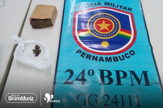 Duas mulheres foram detidas com droga em Santa Cruz do Capibaribe