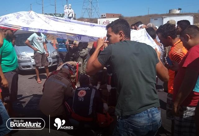 Acidente deixa homem gravemente ferido em Taquaritinga do Norte