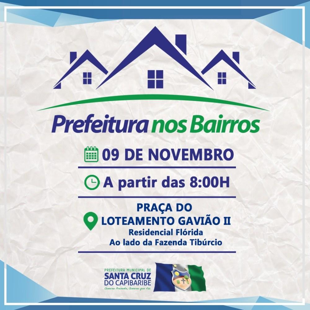 Projeto Prefeitura nos Bairros chega ao Loteamento Gavião 2