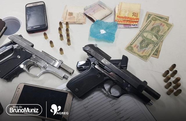 Uma menor e dois indivíduos são detidos com entorpecente, munições e dinheiro no distrito de São Domingos
