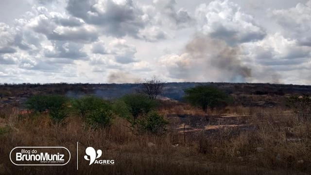 Mais um incêndio é registrado em área rural Santa Cruz do Capibaribe