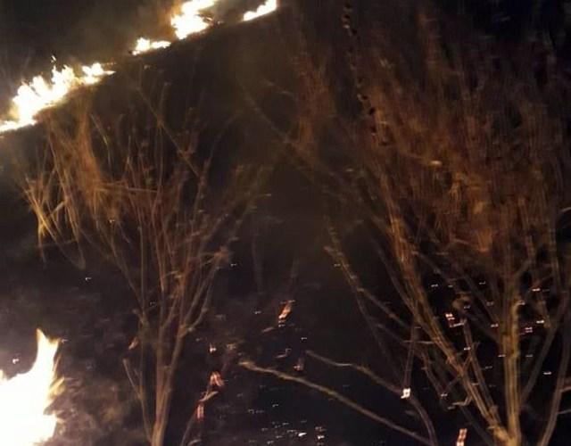 Incêndio é registrado em fazenda na zona rural de Taquaritinga do Norte