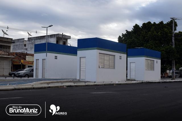 Inaugurados em maio de 2018, quiosques da Avenida Padre Zuzinha permanecem fechados