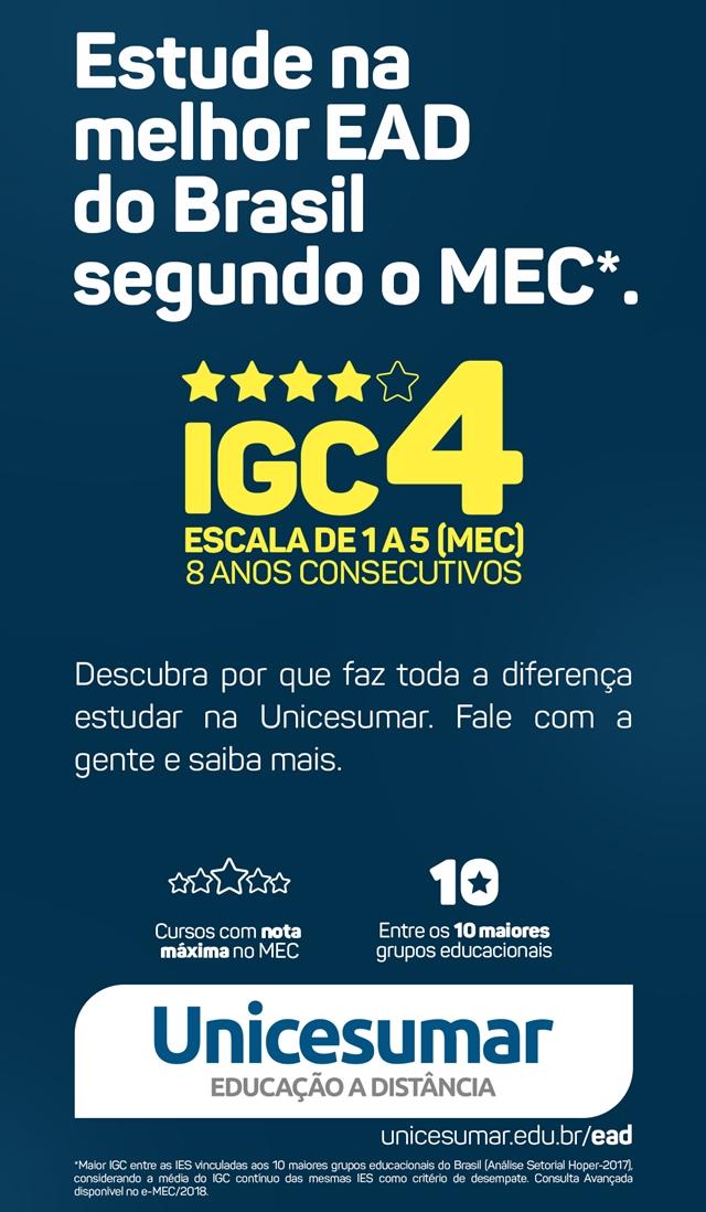 MEC reconhece alto nível de qualidade da Unicesumar