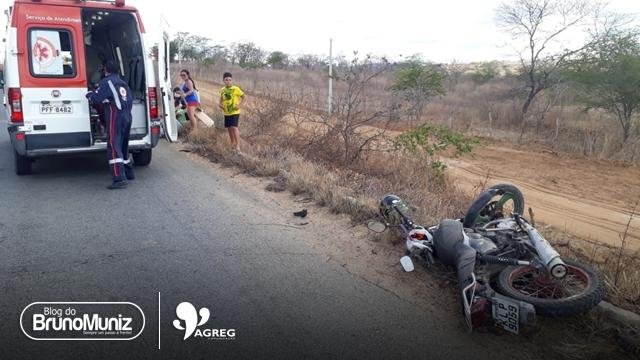 Acidente motociclístico é registrado na PE-160 em Santa Cruz do Capibaribe