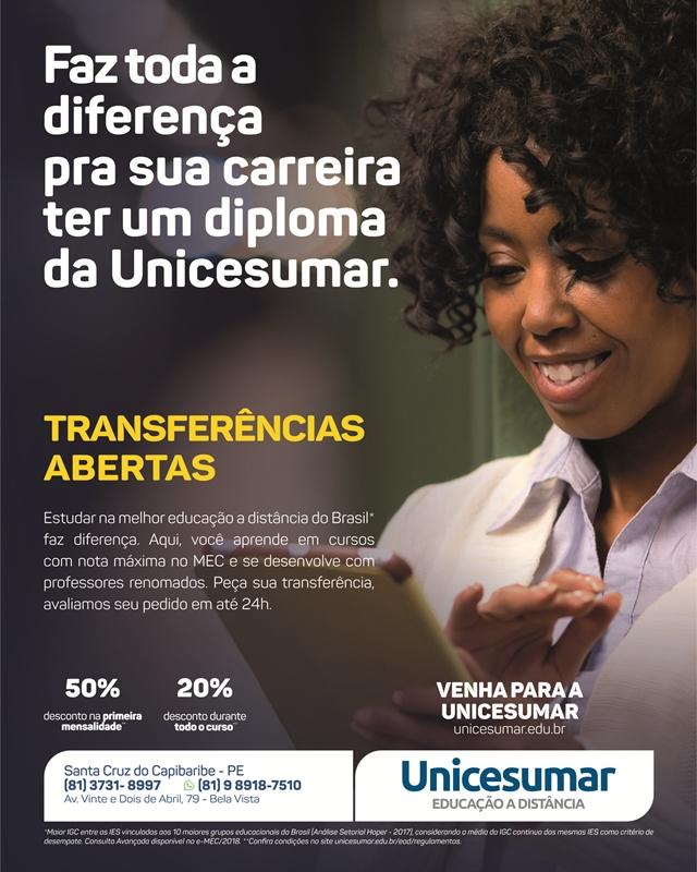 Unicesumar concede descontos diferenciados para alunos transferidos