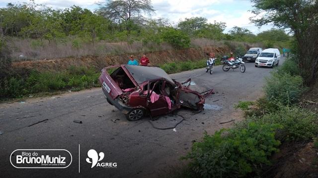Grave acidente é registrado na PE-160 em Santa Cruz do Capibaribe