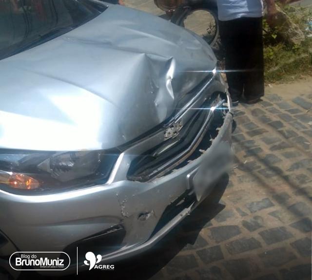 Acidente é registrado em avenida de Santa Cruz do Capibaribe