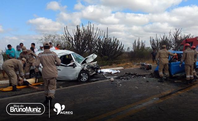 Acidente deixa quatro mortos na BR-104, em Taquaritinga do Norte