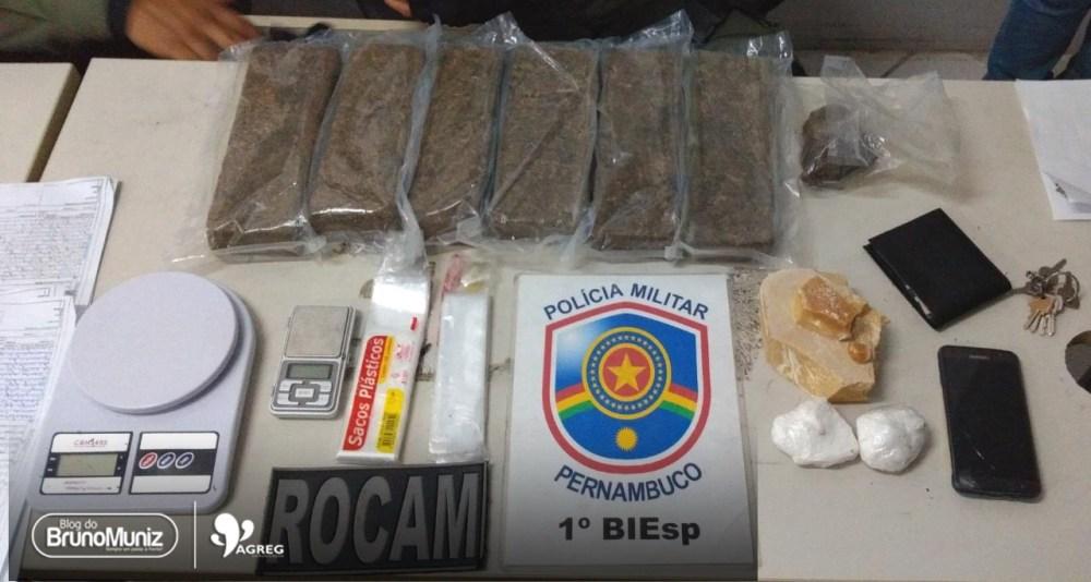 Grande quantidade de drogas é apreendida em Santa Cruz do Capibaribe