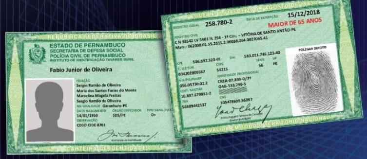 Pernambuco apresenta nova carteira de identidade com mudanças na composição e produção
