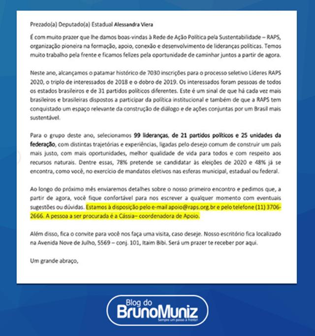 Alessandra Vieira é selecionada para formação de lideranças políticas do RAPS