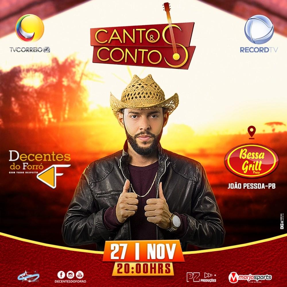Banda Santa-cruzense Decentes do Forró fará apresentação em programa de TV Cantos & Contos na próxima Quarta-feira (27)