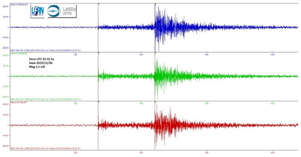 Três tremores de terra são registrados em Caruaru