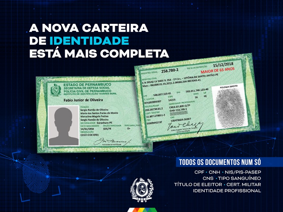 Secretaria de Governo e Desenvolvimento Social já emite nova carteira de identidade em Santa Cruz do Capibaribe
