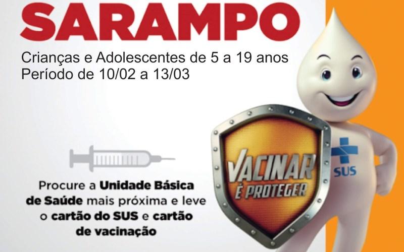 Campanha de vacinação contra o Sarampo segue até 13 de março