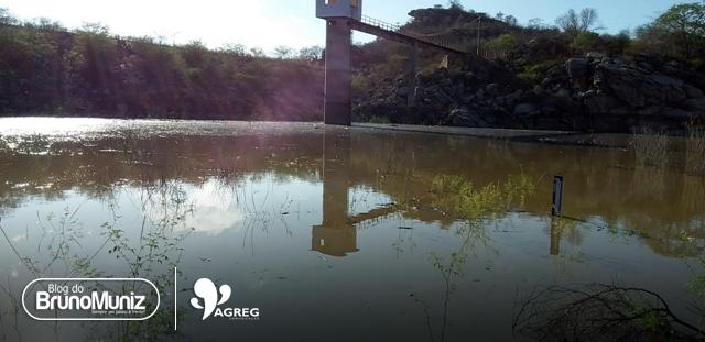 Após chuvas na região, barragem de Poço Fundo registra significativo acúmulo de água