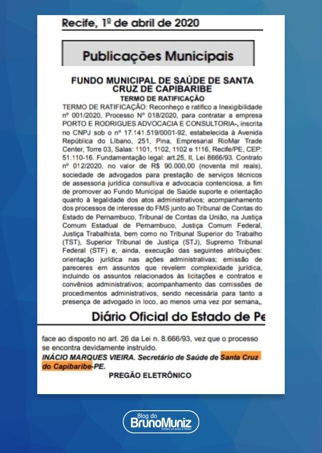 """Edson Vieira responde denúncia de contratação de advogados por Secretaria de Saúde: """"estão distorcendo"""""""