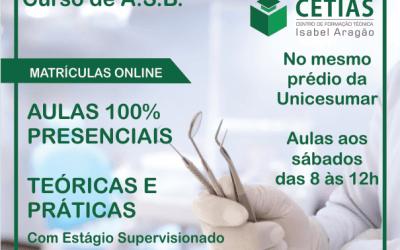 Curso de ASB será ofertado pelo CETIAS em Santa Cruz do Capibaribe