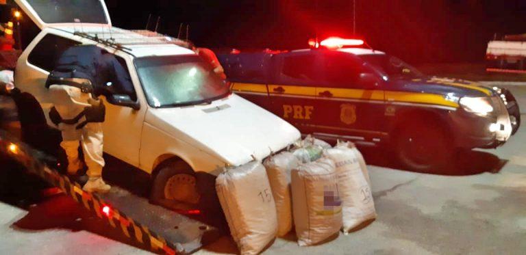 Dois homens são detidos pela PRF em São Caetano com mais de 100 quilos de maconha