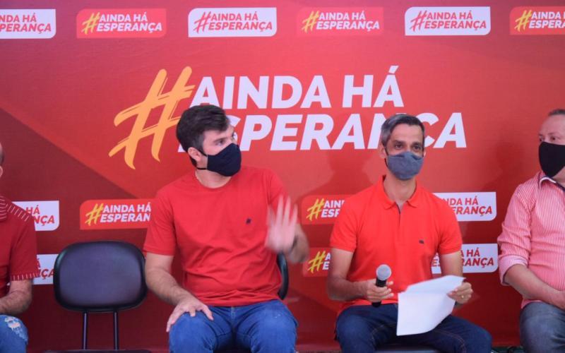 Helinho Aragão é anunciado como vice de Fábio Aragão