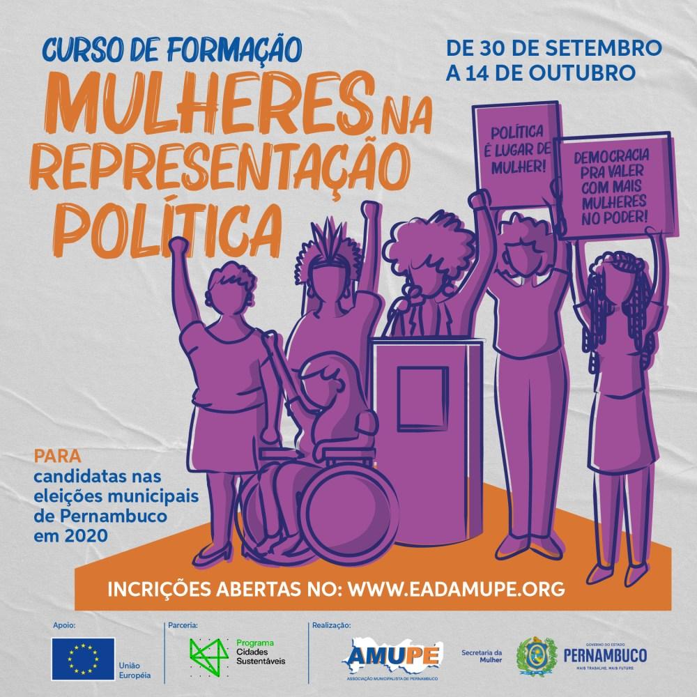 Curso de formação para mulheres candidatas às eleições 2020