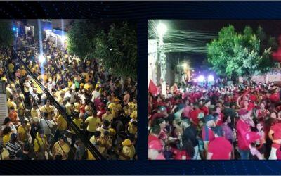 Candidatos de Barra de São Miguel/PB realizam atos de campanha em Santa Cruz do Capibaribe