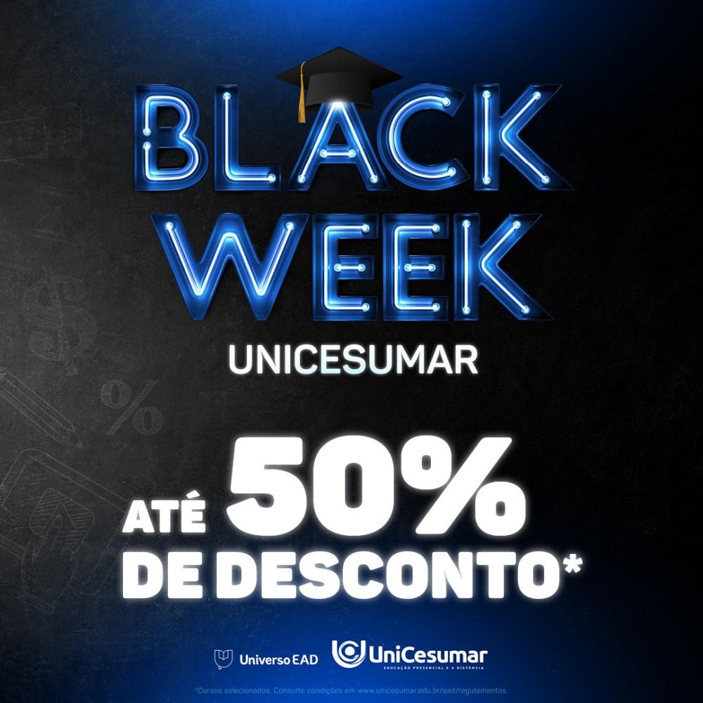 Black week da graduação oferece cursos superiores com até 50% de desconto nas mensalidades
