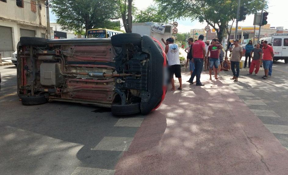 Grave acidente é registrado no perímetro urbano de Caruaru