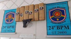 Polícia Militar apreende 6 quilos de maconha em Santa Cruz do Capibaribe