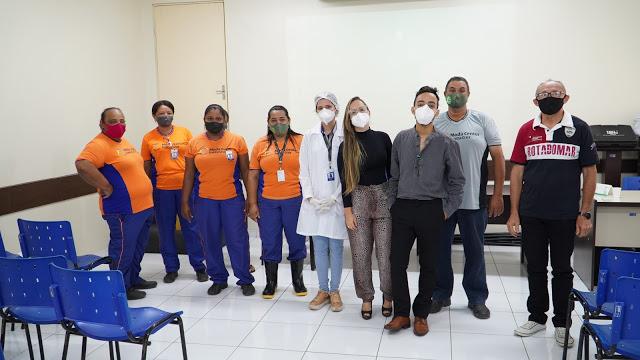 Colaboradores do Moda Center que são diabéticos e hipertensos participam de mais uma edição do Hiperdia