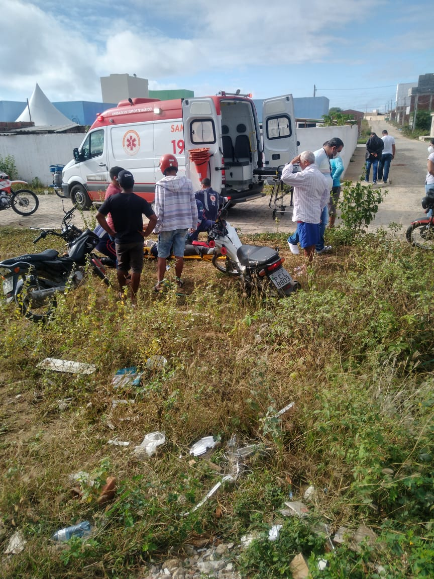 Acidente é registrado no bairro Maria Vieira, em Santa Cruz do Capibaribe