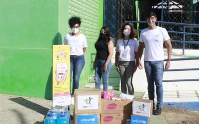 Prefeitura de Santa Cruz recebe kits contra a covid-19 da UNICEF